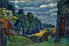 Рерих Н. К. Замок Тристана, Тристан и Изольда (для оперы Зимина, 1912, не поставлено)